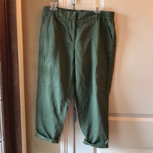 Loft crop pants size 10